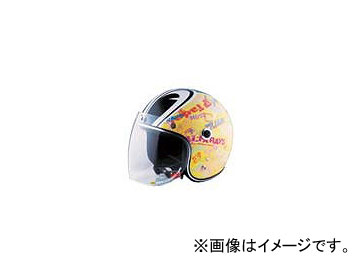 2輪 72ジャムジェット ヘルメット SP TADAO JET キッズ P040-5786 イエロー 52~55cm