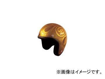 2輪 72ジャムジェット ヘルメット GHOST FLAME JG-シリーズ P039-5204 ゴールド
