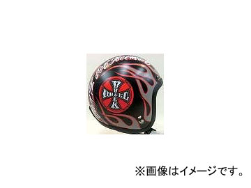 2輪 72ジャムジェット ヘルメット JJシリーズ ROCK&ROLL P034-0346 MD/BK