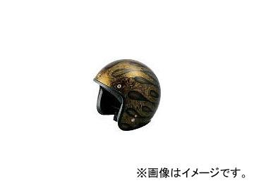 2輪 ライズ ヘルメット VANCH EARLY JETS CONNIK P034-0791 ゴールド/ブラウン