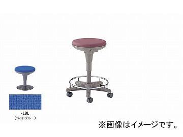 ナイキ/NAIKI 丸イス 病院用 ライトブルー E758F-LBL 510×510×450~625mm