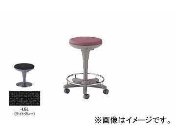 ナイキ/NAIKI 丸イス 病院用 ライトグレー E758F-LGL 510×510×450~625mm