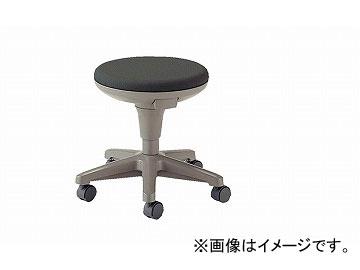 ナイキ/NAIKI 丸イス 病院用 ライトグレー E724F-LGL 510×510×400~500mm