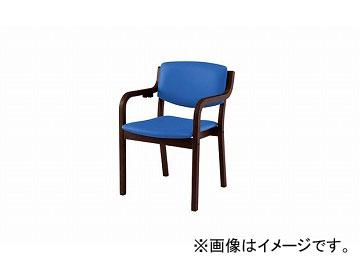 ナイキ/NAIKI 木製チェアー 4本脚タイプ ライトブルー E205SBR-LBL 530×510×790mm