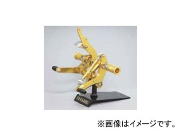 2輪 オーヴァーレーシング バックステップ P033-7681 ゴールド ホンダ エイプ50/100