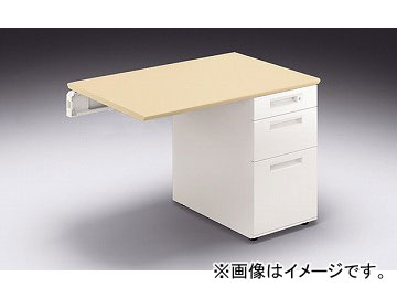 ナイキ/NAIKI リンカー/LINKER カスティーノ 片袖デスク 連結用 Sタイプ シルクウッド/ホワイト CND106BJ-HS 1000×650×700mm