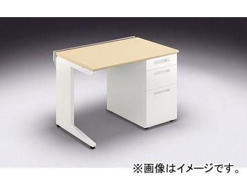 ナイキ/NAIKI リンカー/LINKER カスティーノ 片袖デスク Hタイプ シルクウッド/クリアーホワイト CNHD107B-WS 1000×700×700mm