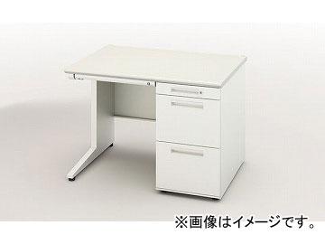 ナイキ/NAIKI リンカー/LINKER 片袖デスク ホワイト CNE107C-HH 1000×700×700mm