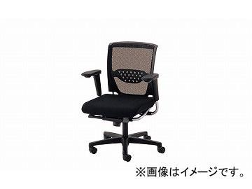 ナイキ/NAIKI 事務用チェアー ローバック可動肘付 ブラック E547MA-BK 620×585×875~965mm