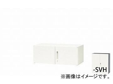 ナイキ/NAIKI リンカー/LINKER 両開き書庫 シルバー/ホワイト CWS-0904K-SVH 899×400×350mm