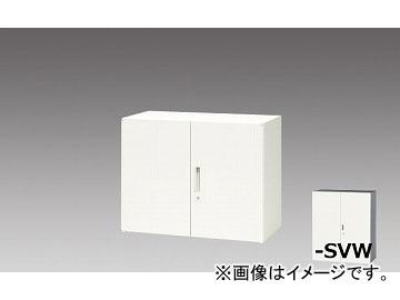 ナイキ/NAIKI リンカー/LINKER 両開き書庫 シルバー/クリアホワイト CW-0907K-SVW 899×450×700mm