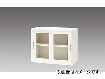 ナイキ/NAIKI リンカー/LINKER ガラス引違い書庫 クリアホワイト CW-0907HG-WW 899×450×700mm
