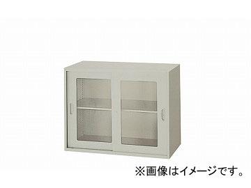 ナイキ/NAIKI ネオス/NEOS ガラス引違い書庫 枠付 ウォームホワイト NWL-0907HG-AW 899×500×700mm