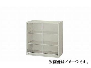 ナイキ/NAIKI ネオス/NEOS ガラス引違い書庫 ウォームホワイト NW-0909AG-AW 899×450×900mm