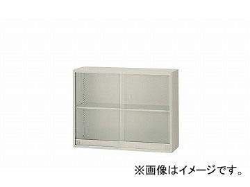 ナイキ/NAIKI ネオス/NEOS ガラス引違い書庫 ウォームホワイト NW-09073AG-AW 899×300×700mm