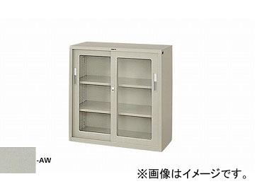 ナイキ/NAIKI 引違い書庫(ガラス戸) 3号 ウォームホワイト HG33J-AW 880×400×880mm