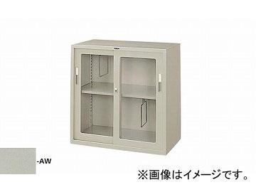 ナイキ/NAIKI 奥深引違い書庫 ガラス戸 ウォームホワイト HG337-AW 880×515×880mm