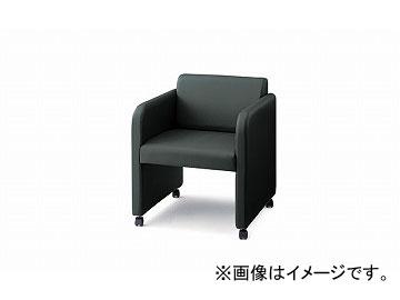 ナイキ/NAIKI 会議用チェアー 応接タイプ グレー E902-GL 600×615×710mm