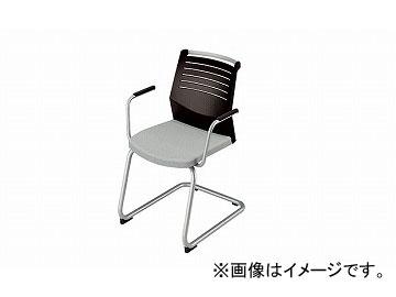 ナイキ/NAIKI 会議用チェアー 肘掛付 キャンチレバー脚/背ヌードタイプ グレー E298-GL 600×590×822mm