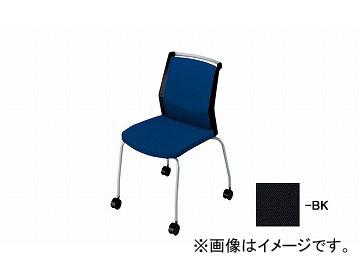 ナイキ/NAIKI 会議用チェアー 4本脚キャスター付/背パット ブラック E290FC-BK 532×590×822mm