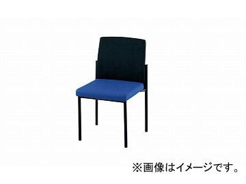 ナイキ/NAIKI 会議用チェアー 4本脚タイプ ブルー/ブラック E238F-BLB 512×531×820mm