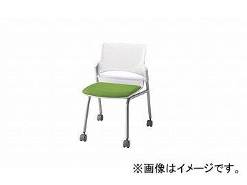 ナイキ/NAIKI 会議用チェアー グリーン E274-1F-GR 544×575×760mm