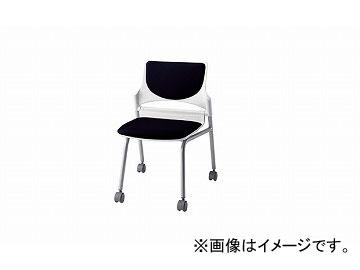 ナイキ/NAIKI 会議用チェアー ブラック E274-2F-BK 544×575×760mm