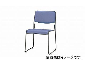 ナイキ/NAIKI 会議用チェアー ループ脚/塗装タイプ ブルー E177B-BL 495×540×750mm