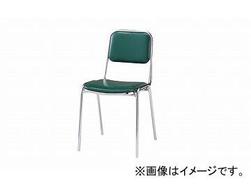 ナイキ/NAIKI 会議用チェアー 4本脚タイプ グリーン E120-GR 400×510×750mm