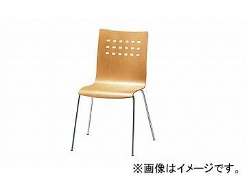 ナイキ/NAIKI リフレッシュ用チェアー 4本脚タイプ ナチュラル E211-NA 560×530×835mm