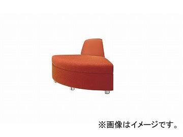 ナイキ/NAIKI アームレスチェアー 外30° オレンジ ZRE42RCH-OR 850×680×590mm