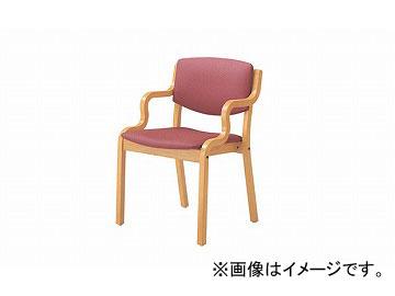 ナイキ/NAIKI 木製チェアー 高齢者福祉施設用 ローズピンク E205R-RPI 530×510×790mm