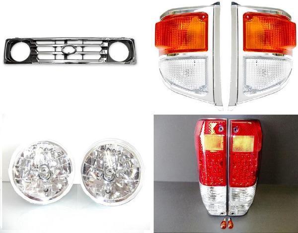 送料無料 大型商品 トヨタ ランクル 70 系 77 フロントグリル ヘッドライト LED テールランプ コーナーランプ 左 右 セット HZJ77 PZJ77 ランドクルーザー