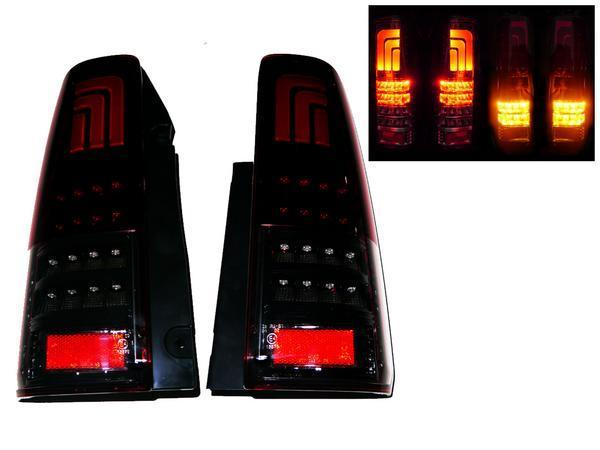 送料無料 スズキ ジムニー JB23W 98y-18y 流れるウィンカー リア ファイバー LED レッドスモークコンビ テールランプ 左右 セット テール