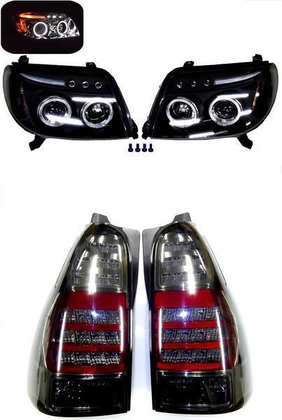 送料無料 ハイラックス サーフ KDN215W リア LED スモーク テール & ヘッド ライト 左右 SET