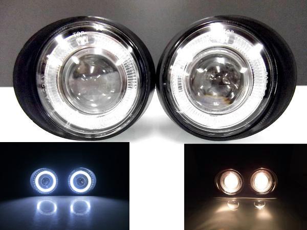 送料無料 日産 ムラーノ Z50 系 NEW LED 爆光 イカリング プロジェクター フォグ ランプ 左右 SET インフィニティ ランプ バンパー ライト
