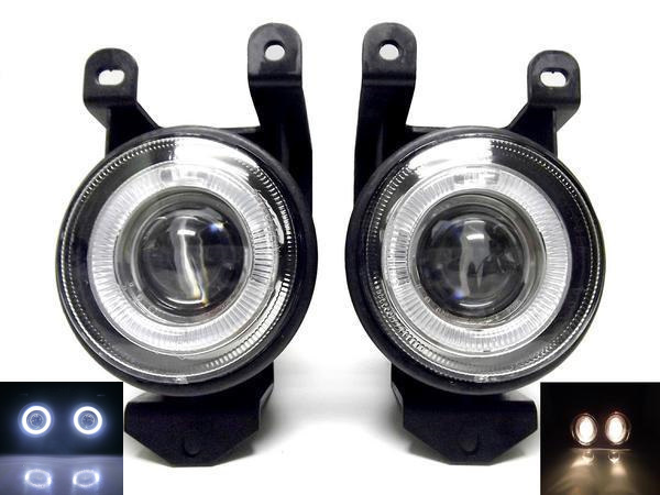 送料無料 GMC シエラ / デナリ / ユーコン 爆光 NEW LED プロジェクター 内蔵 イカリング フォグ ランプ バンパー ライト 左右SET 台湾製
