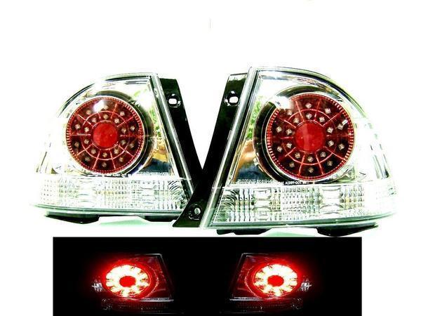送料無料トヨタ アルテッツァ GXE / SXE10系 インナークロームメッキ LEDレッドクリスタルテールランプ 左右 リアテール テールライト リヤ