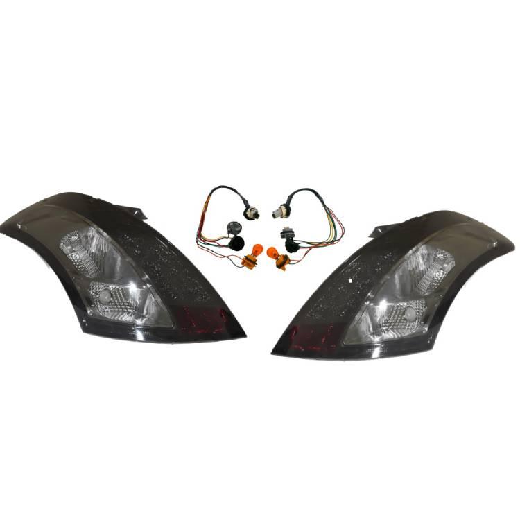 送料無料 スズキ スイフト リア スモーク LEDテールランプ 左右 SET ライト ZC72S / ZD72S 反射板付き バックランプ ストップランプ SWIFT