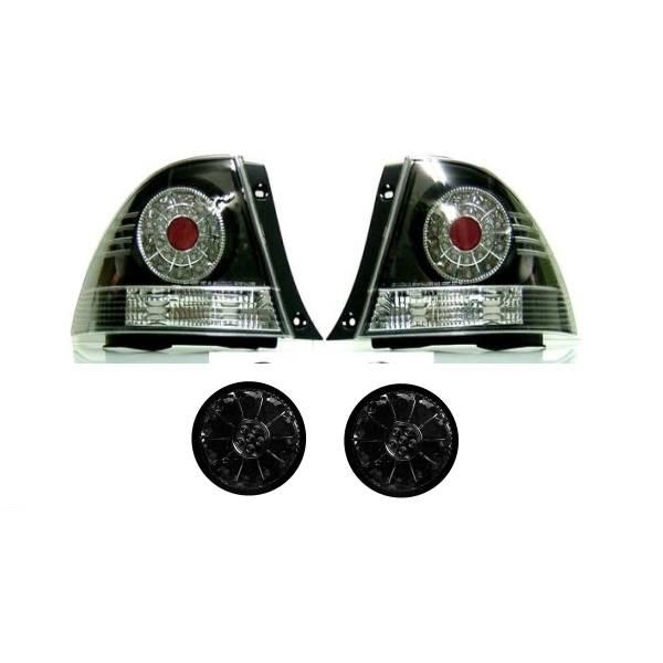 送料無料 トヨタ アルテッツァ 10系 LED JDM ブラック テール ランプ & LED スモークトランク テール セット