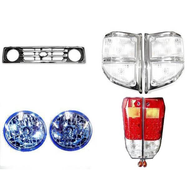 送料無料トヨタ ランクル 70 系 77 フロントグリル ヘッドライト LEDテールランプ コーナーランプ 左 右 セット HZJ77 PZJ77 ランドクルーザー