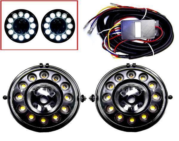 送料無料 ミニ MINI R55 R56 R57 R58 R59 R60 黒LEDデイライト クラブマン クーパー コンバーチブル ロードスター クロスオーバー