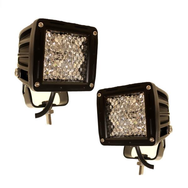 送料無料 LED ワークライト フォグ ランプ 角型 狭角 12W スイッチ&配線付