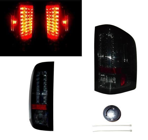 送料無料 シボレー シルバラードピックアップ 前期 LEDスモークテールランプ 左右SET NEWSTYLE仕様 リフレクター テールライト ウィンカー
