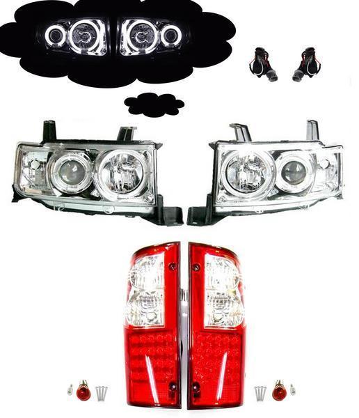 送料無料 bB オープンデッキ NCP34 CCFL プロジェクター ヘッドライト & LED テール SET