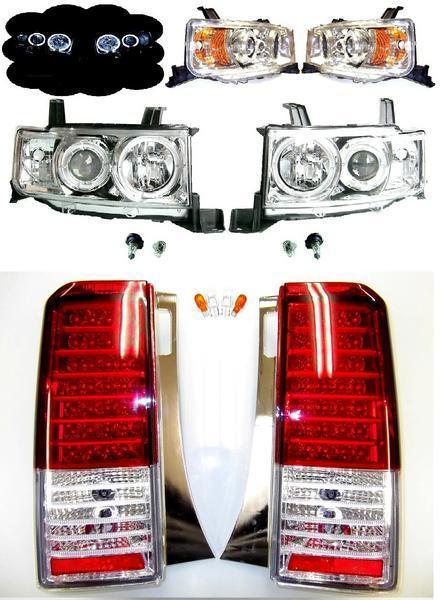 送料無料 bB NCP30 LED イカリング ヘッド ランプ アンバー リフレクター仕様 ヘッドライト & LED テール SET