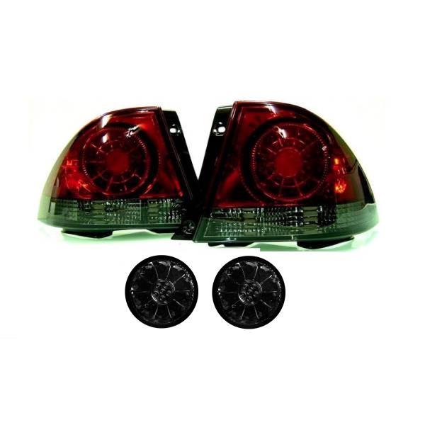 送料無料 トヨタ アルテッツァ 10系 LED スモーク コンビ テールランプ & トランク テール 左右 セット テールライト リアテール 98y-05y