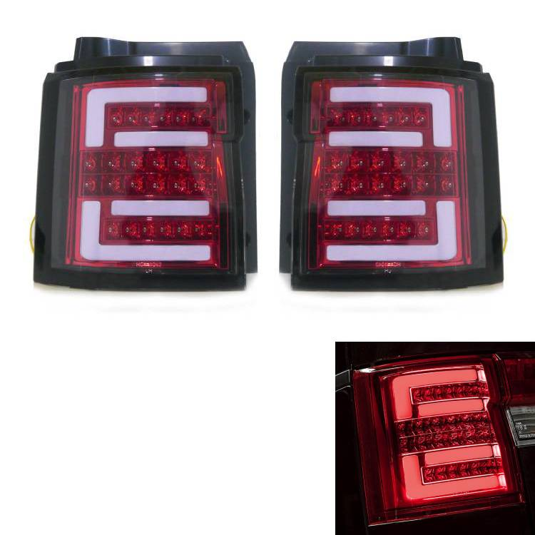 送料無料 三菱 デリカ D5 流れる ウィンカーファイバー リア LED テールランプ 赤 左右 セット D:5 CV1W CV2W CV4W CV5W テールライト テール シーケンシャル ライト レッド ヘッドライト