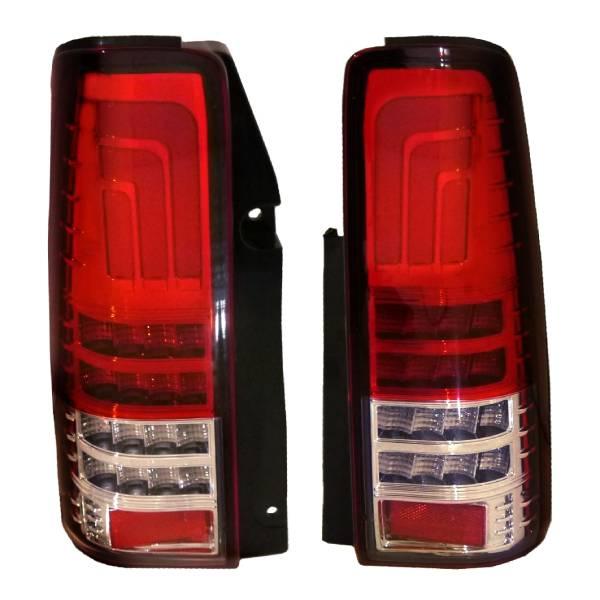 送料無料 スズキ ジムニー JB23W レッドスクリアコンビ LEDファイバーテールランプ 流れるウィンカー 左右 ライト リフレクター ハイフラ防止抵抗付き