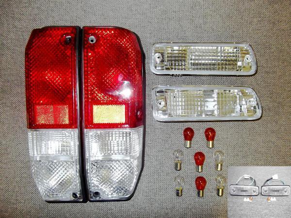 送料無料 トヨタ ランクル プラド 71 LJ71 KZJ71フロント ウィンカー & サイドマーカー & コンビ テールランプ 左右 セット ランドクルーザ